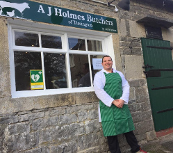 Andrew Holmes's dreams of going it alone as a village butcher have come true - only months after he sought free start-up business advice.