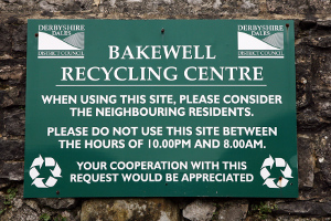 Bakewell recycling centre sign