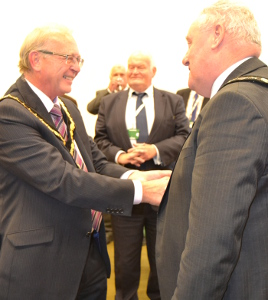 Cllr Albert Catt left and Cllr Tom Donnelly