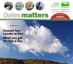 To save money, the Spring 2017 edition of our Dales Matters publication is being delivered to households across the district this week in the same envelope as residents