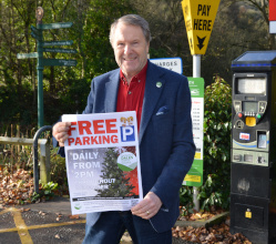 In anticipation of lockdown restrictions easing, your District Council is reintroducing free parking across the district for a month from 1st December.