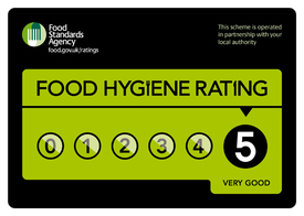Food hygiene rating scheme sticker