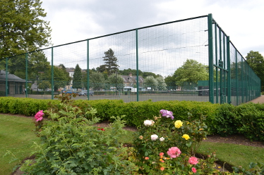 Work started on 26 June, to convert one of the tennis courts in Matlock