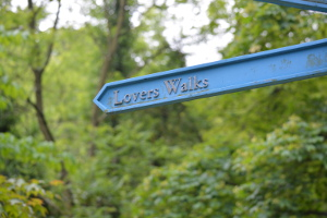 Lovers Walks sign 300px