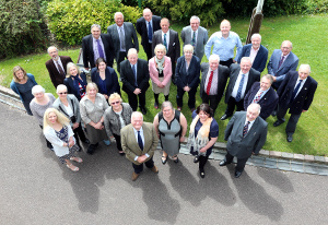 New councillors 2015 with Councillor Lewis Rose pictured front, centre.