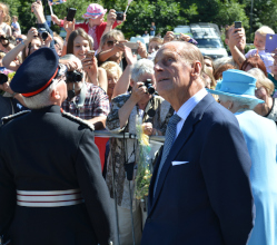 We mourn with the nation Prince Philip, Duke of Edinburgh, pictured here on a Royal visit to Matlock with the Queen in July 2014.