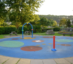Splash pads at our Bakewell Recreation Ground