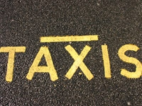 taxi road marking