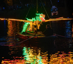 There was a record-breaking start to the 122nd Matlock Bath Illuminations as the region's top autumn event burst into life on 7 September with fireworks and the unique parade of decorated boats.